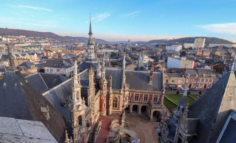 palais, séminaire, vue aérienne, royal, séminaire, événement, nord, Normandie, France