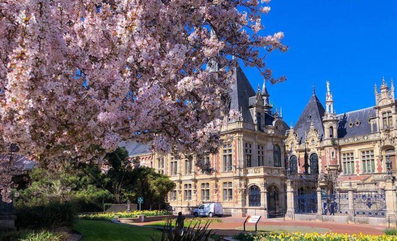 palais, séminaire, vue aérienne, royal, séminaire, événement, nord, Normandie, France, jardin, paysage